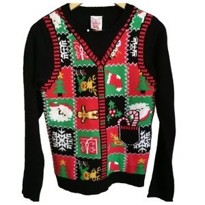 Ugly Christmas Multicolored Sweater, size L